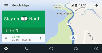 Android Auto JVC KW-M745DBT Google Maps