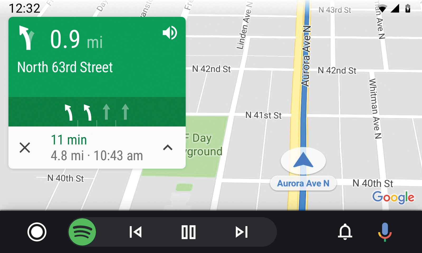 Android Auto JVC KW-M560BT Google Maps