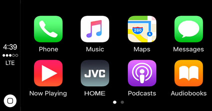 CarPlay JVC Siri or touch control