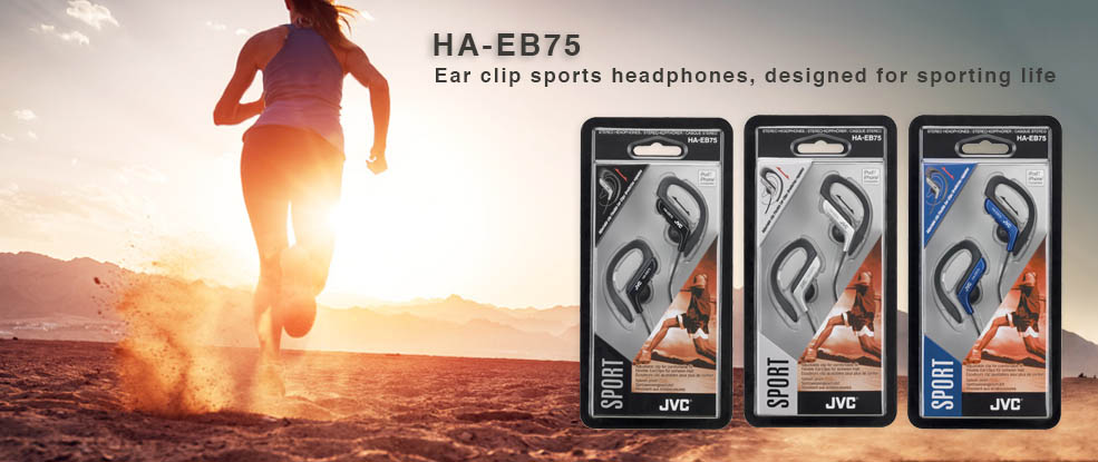 SPORT EAR CLIP HEADPHONES JVC HA-EB75