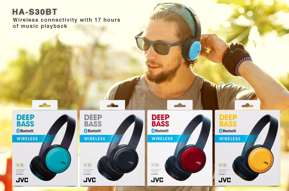 HA-S30BT Headphones 4 vivid colours