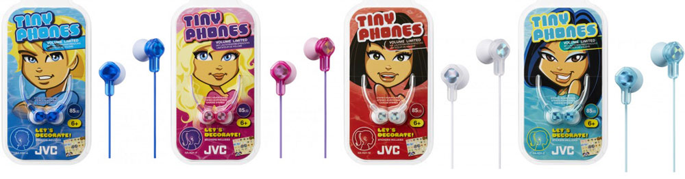 Tinyphones HA-KD1 kids headphones JVC